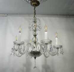 Antique Vintage Chandelier Crystal Elegant Hanging Crystal Balls Hollywood $595.00