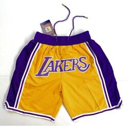 Los Angeles Lakers Vintage Retro Gold Just Don Summer League Basketball Shorts $33.95