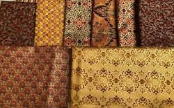 PEACEFUL HOLIDAY by Yenter FAT QUARTERS BUNDLE $24.98