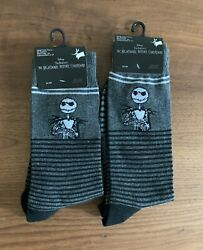 The Nightmare Before Christmas Mens Jack Size 6 12 Socks Halloween Sock Lot 2 $9.99