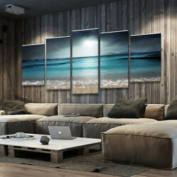 5Pcs Sunset Seaside Canvas Print Art Painting Home Wall Picture Framed $33.89