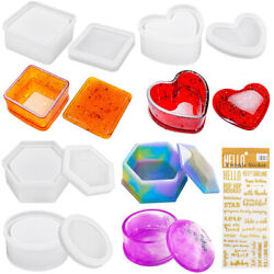 Jewelry Box Resin Casting Molds Silicone DIY Storage Box containers Epoxy Molds $13.99