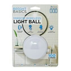 Bright Basics Wireless Lamp with Suction mount for Mirrors Make Up Night Light $13.99