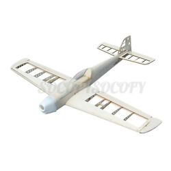 1000mm Wingspan Balsa Wood 6CH RC Airplane Racing Plane Fixed Landing KIT Gifts $84.54