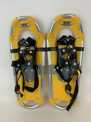 "Atlas Snowshoes 18""x 7"" Trail Walking Snow Shoes Youth Yellow Pre Owned $24.99"