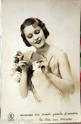 1942 Girlie Novelty Female With Letter Fashion Ed.sac 3589 Fotostampa Italy $3.54