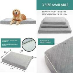 Hachikitty Orthopedic Dog Bed Removable Cover Crate Dog Bed Mattress Washable $66.82