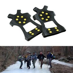 ICE SNOW ANTI SLIP SPIKES GRIPS GRIPPERS CRAMPON CLEATS FOR SHOES BOOTS OVERSHOE $11.99