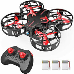 Mini Drone Auto Hovering RC Quadcopter 3Battery 3D Flip Altitude Hold Red Gift $22.99