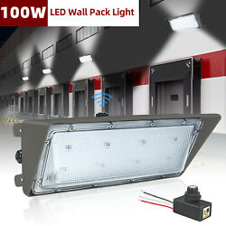 LED Wall Pack Dusk to dawn W Photocell100W Waterproof Outdoor Commercial Light