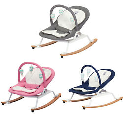 3 Stage Adjustable Rocking Chair with Removable Toy Bar Portable Infant Bouncer $79.99