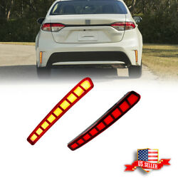 2X LED Red Rear Bumper Reflectors Tail Brake Lights For 2020 2021 Toyota Corolla $34.99
