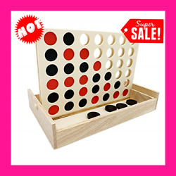 Giant Connect 4 Large Outdoor Games Yard Big Huge Four Lawn Wooden Jumbo Gam NEW $17.58