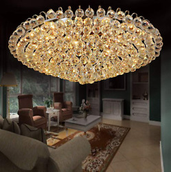 Luxury Crystal Lighting Lamps Flush Mounted Chandeliers Home Ceiling Fixtures $338.39
