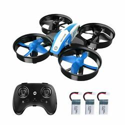 Holy Stone HS210 Mini Drone Helicopter 3D Flip RC Quadcopter 3 Battery for Kids $25.99