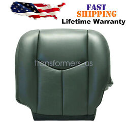 For 2004 2005 2006 GMC Sierra 1500 2500HD Driver Bottom Leather Seat Cover Gray $54.99
