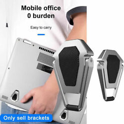 2x Mini Foldable Laptop Stand Pad PC Tablet Holder Adhesive Invisible Bracket $10.49