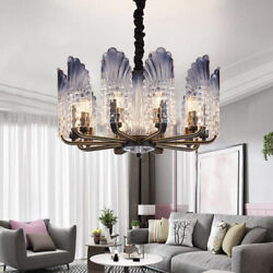 Modern Peacock 10 Lights Chandeliers Crystal Glass Pendant Lamp Ceiling Fixtures $155.99