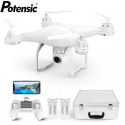 Potensic T25 GPS Drone FPV 1080P HD Camera WiFi RC Quadcopter With Carrying Case $159.99