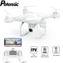 Potensic T25 GPS Drone FPV RC Quadcopter with 1080P HD Camera WiFi FPV Drones $129.99
