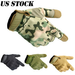 Tactical Full Finger Gloves Motorcycle Hunting Shooting Men Touch Screen Gloves $14.99