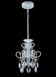 Smart Lighting Shupregu White With Clear Crystals Mini Chandelier $89.99