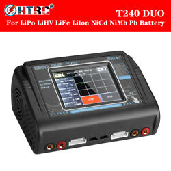 HTRC T240 DUO RC Charger Discharger Dual Channel AC DC 150W Balance Lipo Charger $93.91