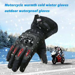 Motorcycle Gloves Racing Waterproof Windproof Winter Warm Leather Cycling Glove $18.98