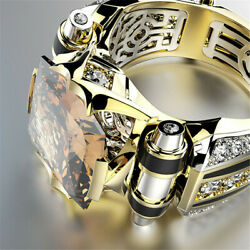 Diamond Mens Personalized Stainless Steel Ring Fashion Creative Jewelry Cyclist* $7.85