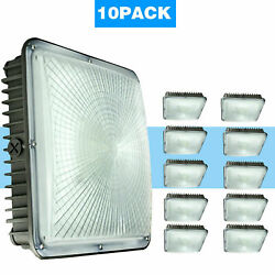 10 Pack 45 Watt LED Canopy Light Outdoor Commercial Lights Fixture AC 110 227V