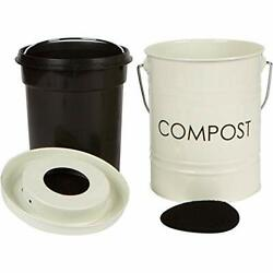 The Relaxed Gardener Kitchen Compost Bin 0.8 Gallon Rust Proof and Leak Proo $37.15