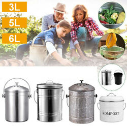 Compost Bin 3 5 6L Stainless Steel Kitchen Compost Bin Kitchen Composter Foods $49.83