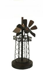 Scratch amp; Dent Rustic Brown Industrial Windmill Metal Table Lamp Base $54.99