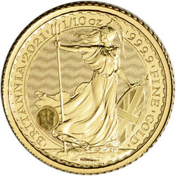 2021 Great Britain Gold Britannia £10 1 10 oz BU $213.49