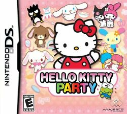 Hello Kitty Party For Nintendo DS DSi 3DS 2DS Game Only 3E $8.04