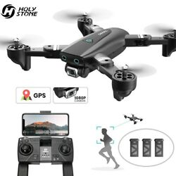 DEERC S167 GPS Drone with 1080P HD Camera Foldable RC Quadcopter GPS 3 Batteries $109.99
