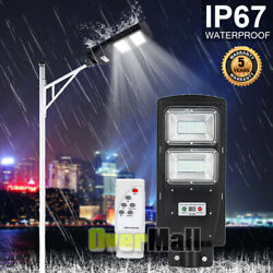 990000LM 60W Led Solar Street Light Outdoor Commercial Waterproof Dusk to Dawn