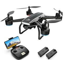 DEERC D50 Drone 2K UHD Camera FPV Quadcopter for Adults Live Video 2 Batteries $55.99
