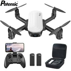 Potensic Elfin Foldable Drone with 2K Camera FPV RC Quadcopter Gesture Control $75.99