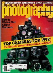 Popular Photography Magazine December 1992 Top Cameras for 1992 c C $6.95