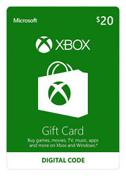 Xbox $20 Prepaid Gaming Cards Digital Code mailing $50.00