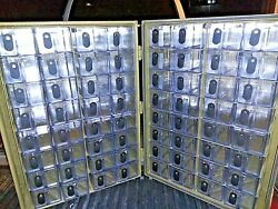 CASE SET of 2 LARGE CASES with SPECIAL FEATURES 64 SMALL BINS amp; 24 LARGER BINS $455.00