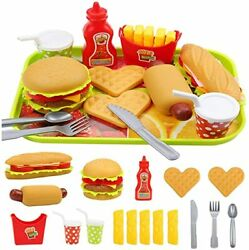 Pretend Play Fast Food Set Play Food for Kids Kitchen for Kids Childrens Gifts $21.49