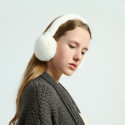 Double Side Fur Real Mink Fur Earmuffs Warm Ear Muffs Scarf Collar Warm Earlap $55.99