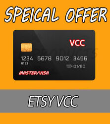 5 VCC Etsy Seller Verification Virtual Card 🔥Fast Delivery🔥 $5.90
