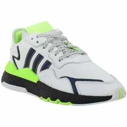 adidas Nite Jogger Lace Up Mens Sneakers Shoes Casual White $109.99