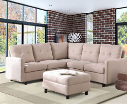 7 Piece Modular Sectional Sofa Modern Living Room Furniture Set Casual DIY Couch $199.99