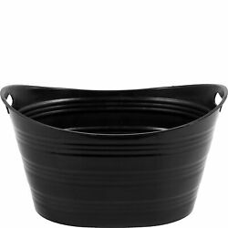 Black Party Tub Perfect with Ice as Party Cooler Measures 19 1 2 by 16 Inches $10.39