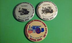 3 TUSCARAWAS VALLEY PIONEER POWER ASS#x27;N Dover Ohio Pinback Buttons 1979 amp; 84 85 $9.00