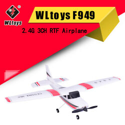 WLtoys F949 CESSNA 182 2.4G 3CH RC RTF Toy Airplane Aircraft Fixed Wing Plane $77.40